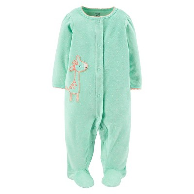 Just One You™Made by Carter's® Newborn Girls' Giraffe Sleep N' Play - Turquoise 3 M