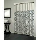 Beatrice Home Marikesh Pieced Woven Jacquard Shower Curtain - Black/White
