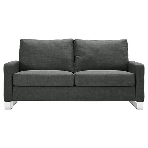 Roscoe Sofa Gray and Chrome