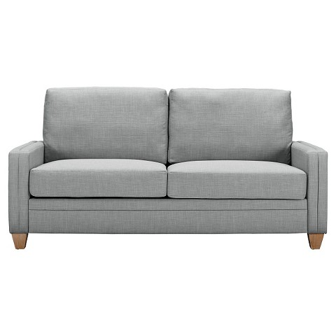 Grey loveseat on shoppinder for Dove grey sectional sofa