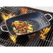 CHEFS Carbon Steel Large Ceramic Grill Pan