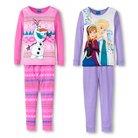 Disney® Frozen Girls' 4-Piece Mix & Match Pajama Set