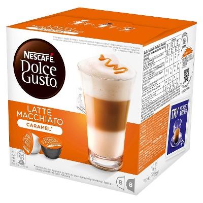 Nescafe Dolce Gusto Caramel Latte Macchiato Coffee Capsules 8ct