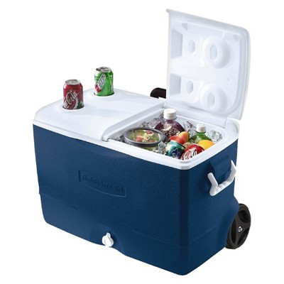 Rubbermaid 50 QT 5-Day Wheeled Cooler - Blue