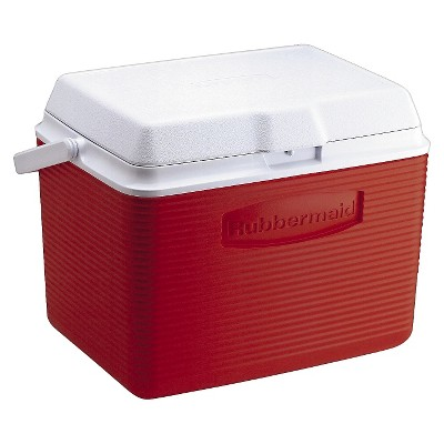 Ecom Cooler Rubbermaid 24quart Red