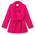 Girls' Polka Dot Belted Trench Coat