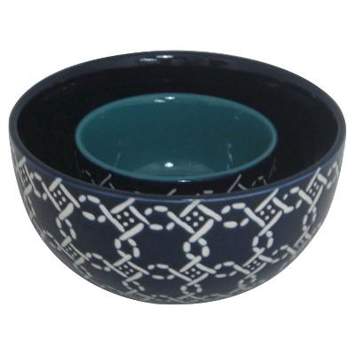 Ecom 2 Pc Serving Bowl Set Threshold Blue Stoneware