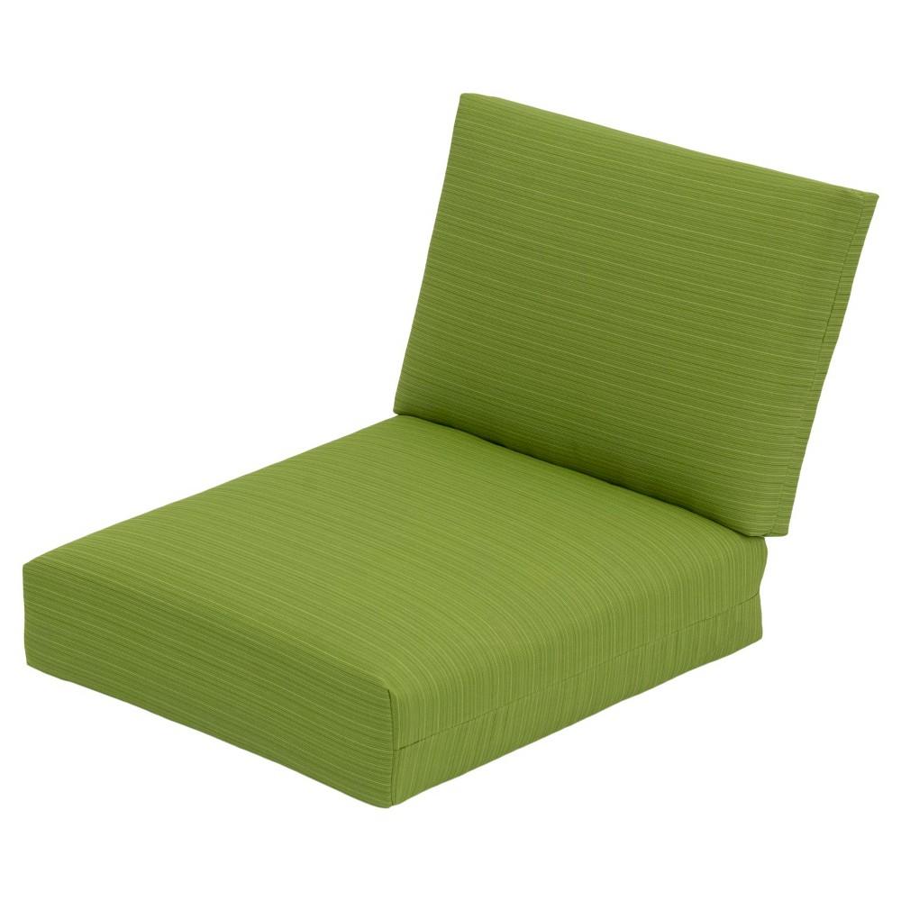 Heatherstone Patio Furniture ECOM OUTDOOR CUSHION SET THRSHD POLYESTER GRN