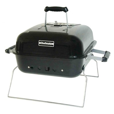 "Chefmate 15"" Square Portable Charcoal Grill -Black"
