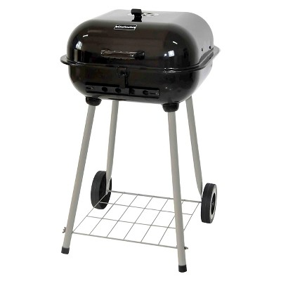 Chefmate 18 Square Upright Charcoal Grill - Black