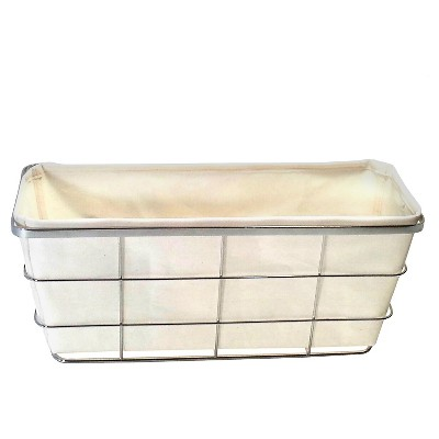 Toilet Tank Bath Basket with Linen Insert Chrome Threshold™