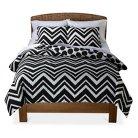 Mudhut™ Chevron Comforter Set - Black/White (Full/Queen)