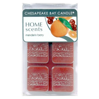 HOME SCENTS 6PK WAX MELTS MANDARIN BERRY