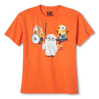 Image of Despicable Me Boys' Halloween Tee - Carrot Orange XS