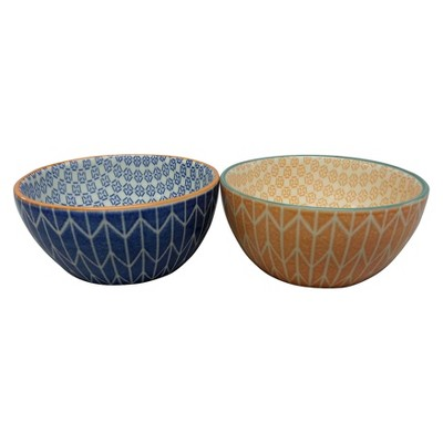 Threshold™ Stoneware Dip Bowls Set of 4 - Orange & Navy