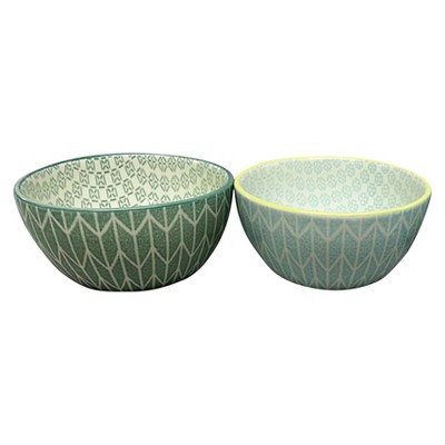 Threshold™ Stoneware Dip Bowls Set of 4 - Turquoise & Green