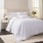 Lush Decor© Stella Comforter Set - White (Queen)