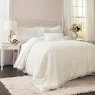 Lush Decor© Stella Comforter Set - Ivory (Queen)