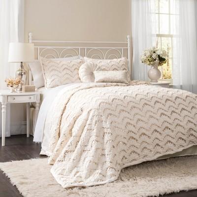 Lush Decor© Giselle Comforter Set - Ivory (King)