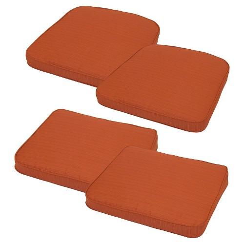 Threshold Loft 4 Piece Outdoor Replacement Patio Cushion Set Ebay