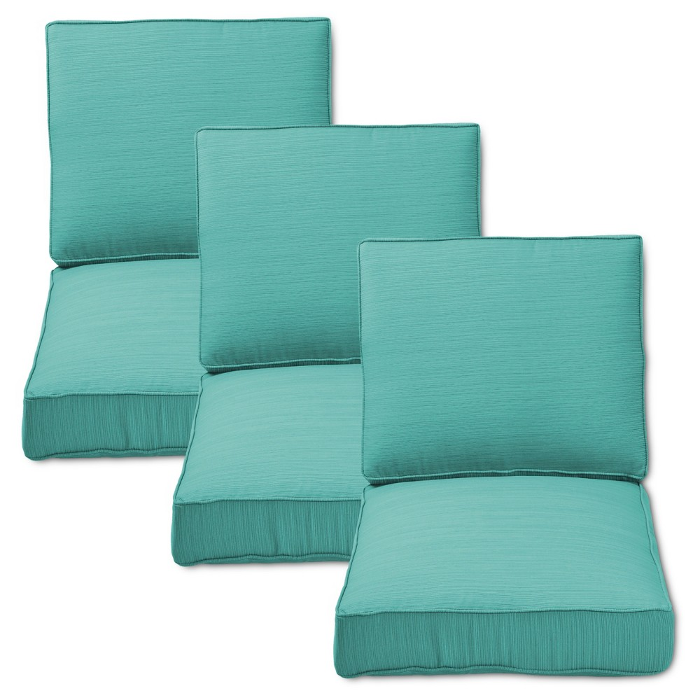 Piece Outdoor Replacement Patio Sofa Cushion Set Turquoise
