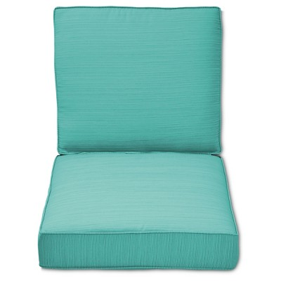 Belvedere 2-Piece Replacement Patio Club Chair/Loveseat Cushion Set - Turquoise  - Threshold™