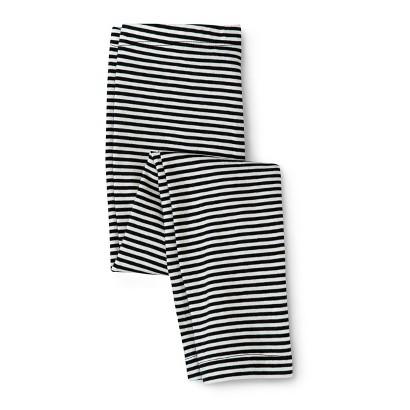 Infant Toddler Girls' Striped Legging - Black/White