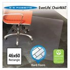 ES Robbins® Multi-Task Series Rectangle Chair Mat for Hard Floors - 3'10''x5'