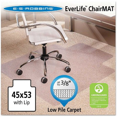 "ES Robbins® Multi-Task Series AnchorBar Lip Chair Mat for Carpet up to 3/8"" - 3'9''x4'5''"