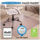 "ES Robbins® Multi-Task Series AnchorBar Rectangle Chair Mat for Carpet up to 3/8"" - 3'10''x5'"