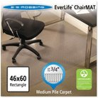 "ES Robbins® Professional Series AnchorBar Rectangle Chair Mat for Carpet up to 3/4"" - 3'10''x5'"