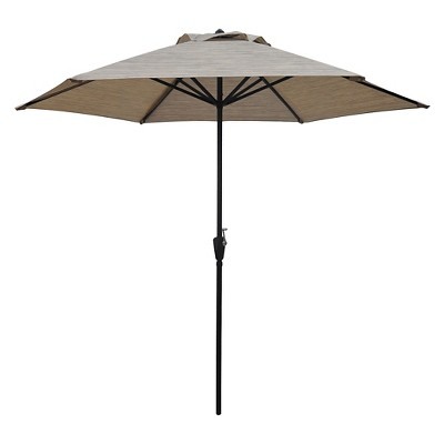 TH 9' Sling Round Umbrella Tan Weave