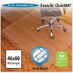 ES Robbins® Economy Series Rectangle Chair Mat for Hard Floors - 3'10'' x 5'
