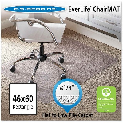 """ES Robbins® Task Series AnchorBar Rectangle Chair Mat for Carpet up to 1/4"""" - 3'10''x5'"""
