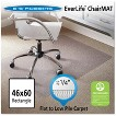 "ES Robbins® Task Series AnchorBar Rectangle Chair Mat for Carpet up to 1/4"" - 3'10''x5'"