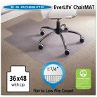 "ES Robbins® Task Series AnchorBar Lip Chair Mat for Carpet up to 1/4"" - 3'x4'"