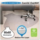 "ES Robbins® Professional Series AnchorBar Workstation Chair Mat for Carpet up to 3/4"" - 5'x5'5''"