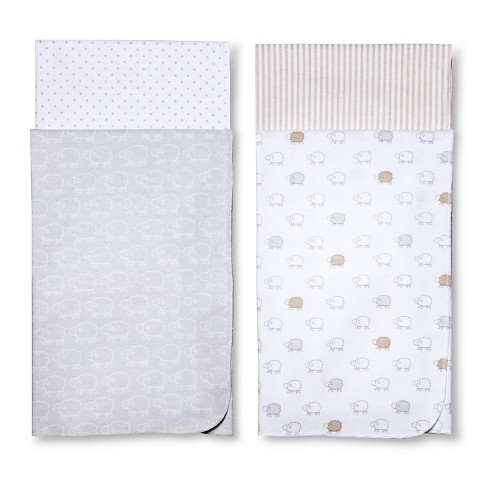 Circo™ 4pk Flannel Receiving Blankets - Sheep & Co. : Target
