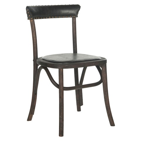 Dining Chair Wood Black Safavieh Tar