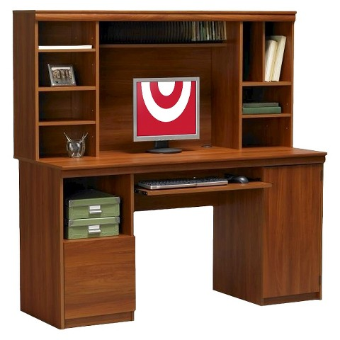 Ameriwood computer desk with hutch cherry - Computer desk in target ...