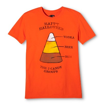 Image of Men's Halloween Candy Groups T-Shirt - Orange S