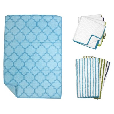 Trellis Kitchen Essentials Textile Set - Blue