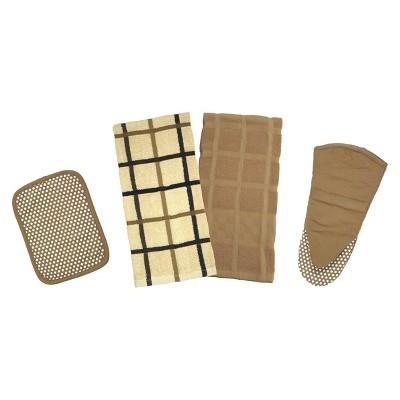 Premium Egyptian Cotton Kitchen Towel Set - Tan