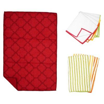 Trellis Kitchen Essentials Textile Set - Red