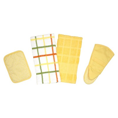 Premium Egyptian Cotton Kitchen Towel Set - Yellow