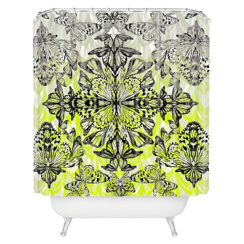 Deny Designs Butterfly Tail Shower Curtain Target