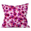DENY Designs Pink Flower Throw Pillow