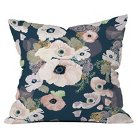 DENY Designs Une Femme In Blue Throw Pillow