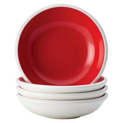 Rachael Ray Rise Fruit Bowl Set of 4 - Red (7.5 oz.)