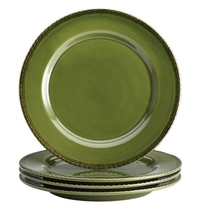 Bonjour Sierra Pine Dinner Plate Set of 4 - Green